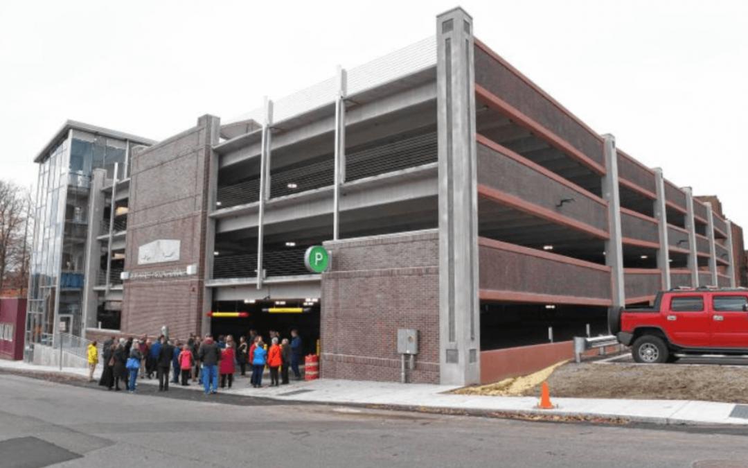 Greenfield, MA, Parking Garage Displays 20th Century Concrete Reliefs